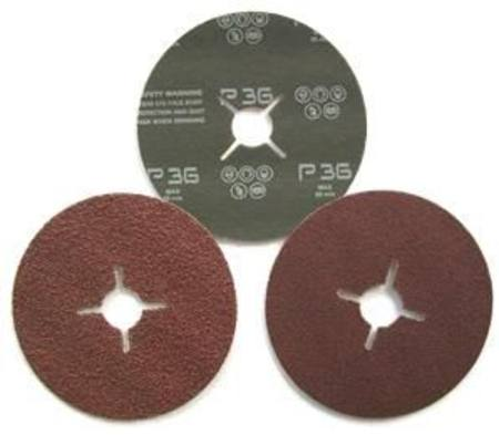 Buy 125 x 22mm P120 FIBRE BACKED ABRASIVE DISC in NZ.