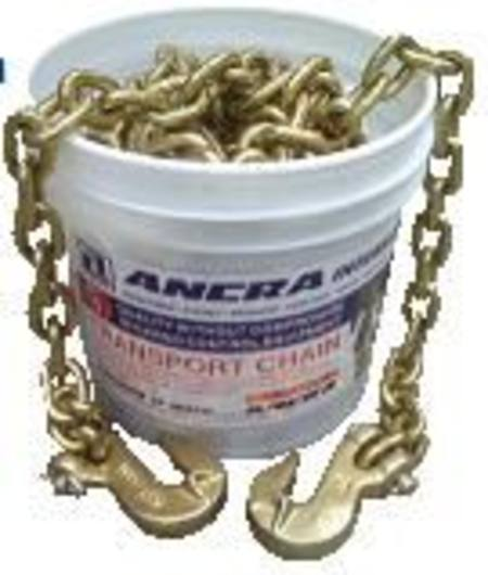 ANCRA LOAD CHAIN 8mm x 9mtr WITH GRAB HOOK ENDS IN BUCKET