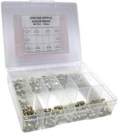 ARLUBE 100pc IMPERIAL GREASE NIPPLE ASSORTMENT