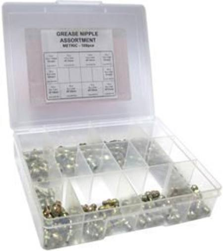 ARLUBE 100pc METRIC GREASE NIPPLE ASSORTMENT