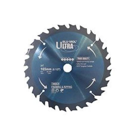 Buy BLU-MOL ULTRA TCT CIRCULAR SAW BLADE 165mm x 24T in NZ.