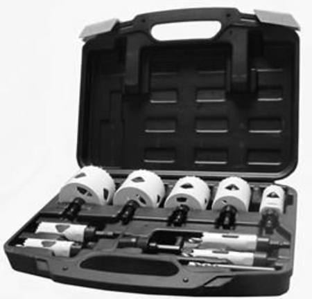 BLUMOL  XTREME 11pc QUICK CHANGE HOLESAW KIT 9 SAWS