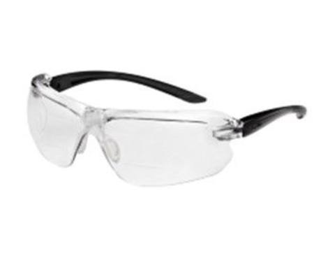 BOLLE' SAFETY IRI-S DIOPTER BI-FOCAL SPECTACLE WITH MAGNIFYING INSERTS CLEAR x 2.0  LENS