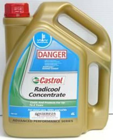 CASTROL RADICOOL ANTIFREEZE  CONCENTRATE 4 ltr (3381061)