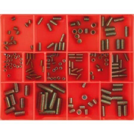 CHAMPION BSW & METRIC GRUB SCREW ASSORTMENT 164pc