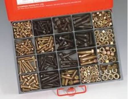 CHAMPION METRIC 8.8 SET SCREW BOLT & NUT MASTER KIT 477pc