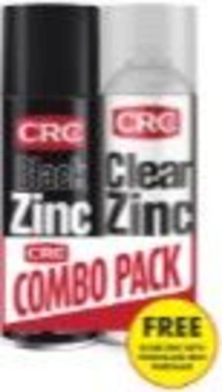 CRC BLACK ZINC & CLEAR ZINC 400ml AEROSOL COMBO PACK ONLY WHILE STOCKS LAST!!!!