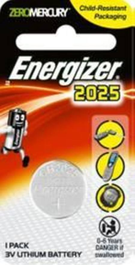 ENERGIZER CR2025 3v ELECTRONICS LITHIUM COIN BATTERY PKT 1