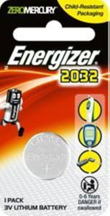ENERGIZER CR2032 3v ELECTRONICS LITHIUM COIN BATTERY PKT 1