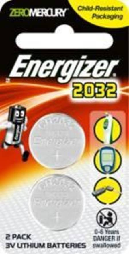 ENERGIZER CR2032 3v ELECTRONICS LITHIUM COIN BATTERY PKT 2