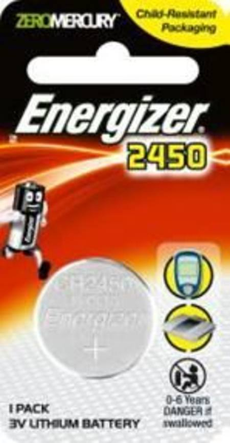 ENERGIZER CR2450 3v ELECTRONICS LITHIUM COIN BATTERY PKT 1