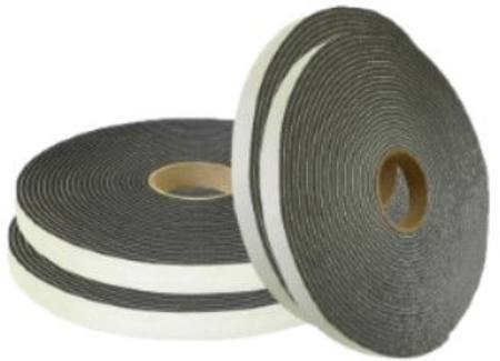 F2-1110 BLACK MEDIUM DENSITY  PVC FOAM SEAL TAPE 12MM X 19MM X 7 METRE ROLL