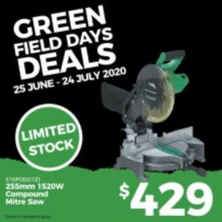 HIKOKI 255MM COMPOUND MITRE SAW FIELD DAYS SPECIAL