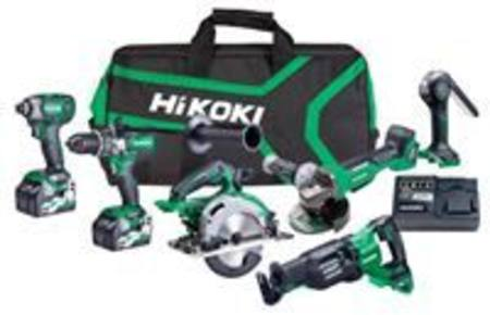 HIKOKI 36V BRUSHLESS 6-TOOL TRADE KIT WITH BONUS MULIT-VOLT BATTERY BY REDEMPTION
