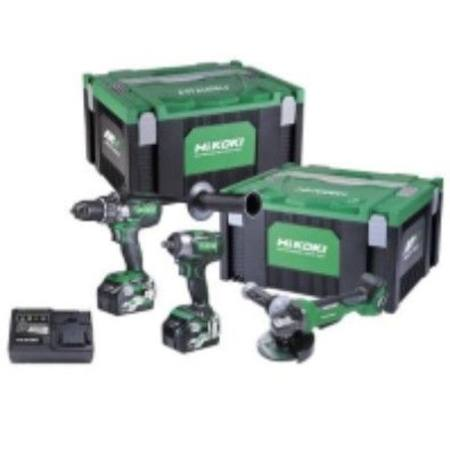 "HIKOKI 36V BRUSHLESS IMPACT DRILL 1/2"" IMPACT WRENCH & 125MM ANGLE GRINDER KIT"