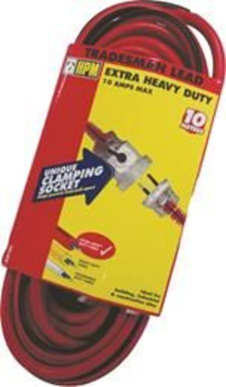 HPM 10mtr EXTRA HEAVY DUTY TRADESMAN EXTENSION LEAD 10amp WITH LOCKING SOCKET