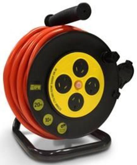 HPM HOUSEHOLD DUTY EXTENSION LEAD 10metre x 10amp ON HOSE REEL