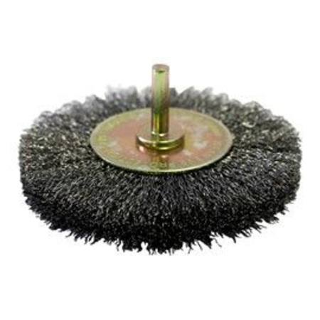 "JOSCO 100 X 15MM 1/4"" SPINDLE WHEEL BRUSH"