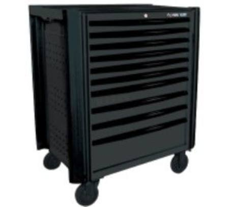 KING TONY 10 DRAWER ROLL CABINET WITH SIDE BUMPERS & TOP TRAY - BLACK STOCK CLEARANCE