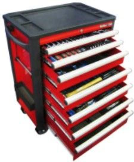 KING TONY 311pc METRIC TOOL KIT IN 7 DRAWER ROLL CABINET SPECIAL BUILD