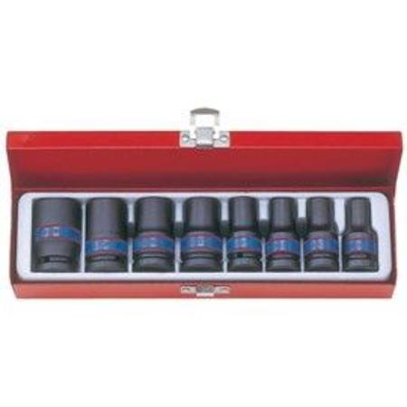 Buy KING TONY 8pc 1/2dr THIN WALL IMPACT SOCKET SET 10 - 24MM in NZ.