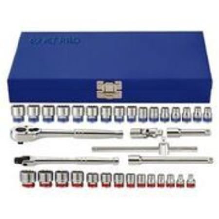 "Buy KING TONY PRO 36pc 3/8"" DR COMBINATION SOCKET SET 12PT 6-22mm & 1/4-7/8"" with FREE 1/2 dr GOLDEN RATCHET 1/8/20 -30/9/20 in NZ."