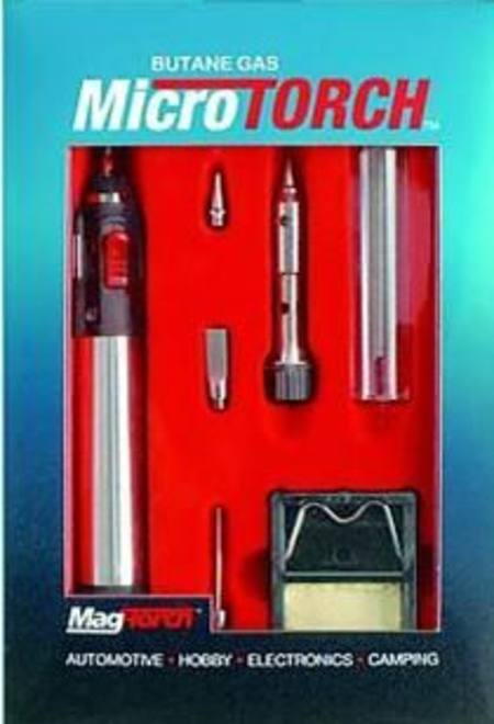 MAG-TORCH REFILLABLE BUTANE GAS MICRO TORCH SOLDER KIT (GAS BOTTLE EXTRA)