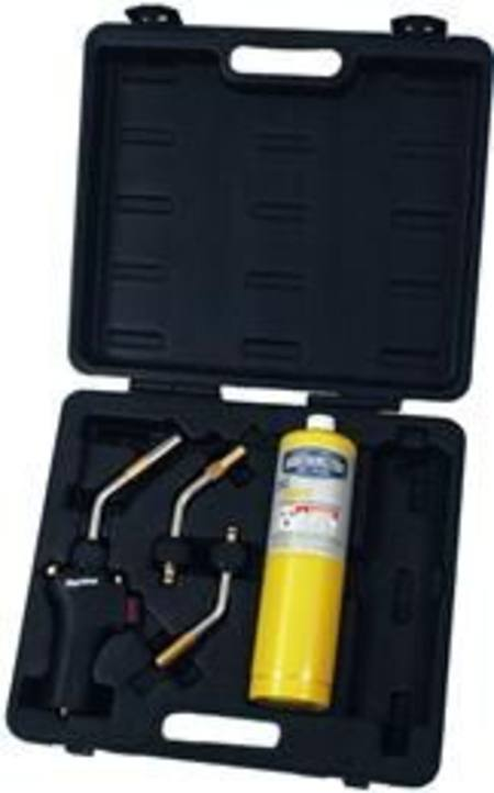 MAGNA MT 579 PRO 5pc MAPP GAS TORCH KIT IN CASE WITH GAS BOTTLE