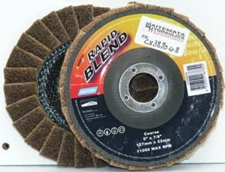 NORTON 125mm RAPID BLEND COARSE SURFACE CONDITIONING FLAP DISC (BROWN)