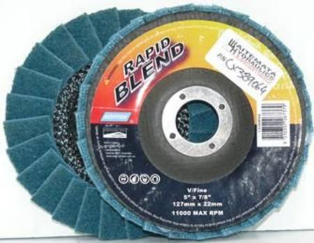 NORTON 125mm RAPID BLEND VERY FINE SURFACE CONDITIONING FLAP DISC (BLUE)