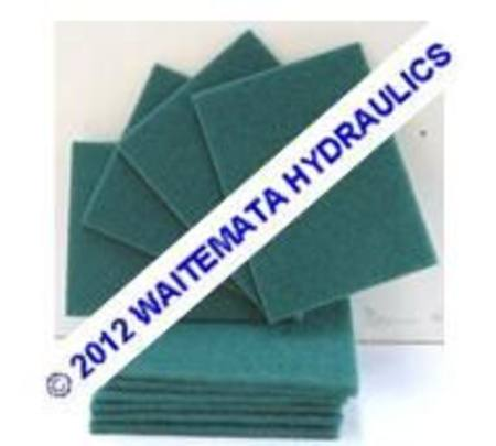 NYLON GREEN SCRUBBER PAD 150 x 200 MEDIUM PACKET OF 10