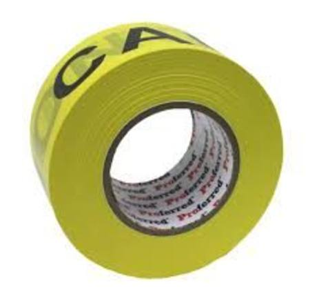 "PROFERRED YELLOW/BLACK CAUTION TAPE 2.8"" X  1000FT/304MTR"