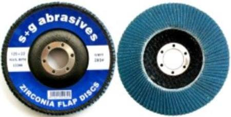 S&G ZIRCONIA FIBRE BACKED FLAP DISC 100 x 16 x Z60