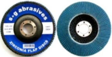 S&G ZIRCONIA  FIBRE BACKED FLAP DISC 125 X 22 X Z40