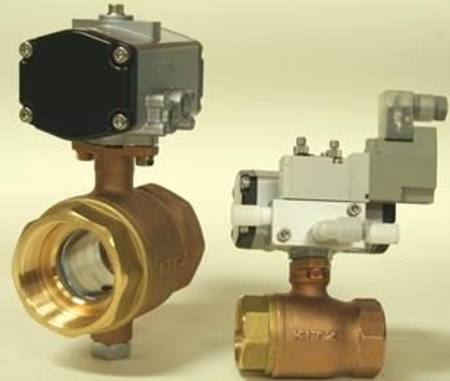 "SMC 1/2""BSPT AIR ACTUATED BALL VALVE"