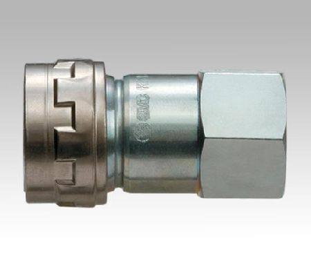 "SMC HIGH FLOW FEMALE AIR COUPLER 1/4"" BSPF VIBRATION RESISTANT"