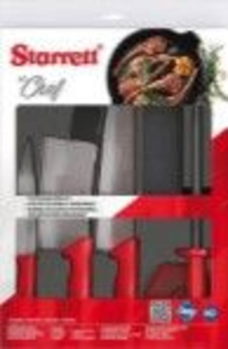 "Buy STARRETT 6PCE CHEF'S KNIFE SET WITH 6""/150mm CLEAVER in NZ."