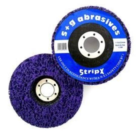 STRIPX HEAVY DUTY PURPLE D/CENTRE SURFACE CONDITIONING WHEEL 100 x 16mm