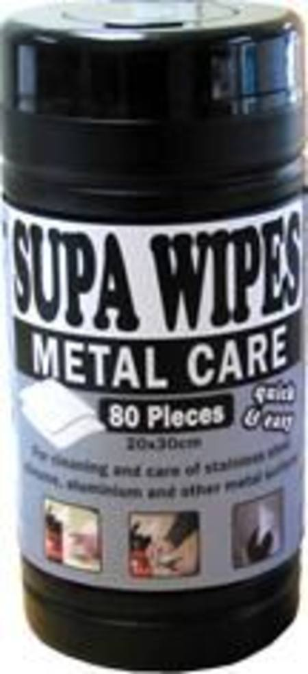 SUPA WIPES METAL CARE L 80 PACK
