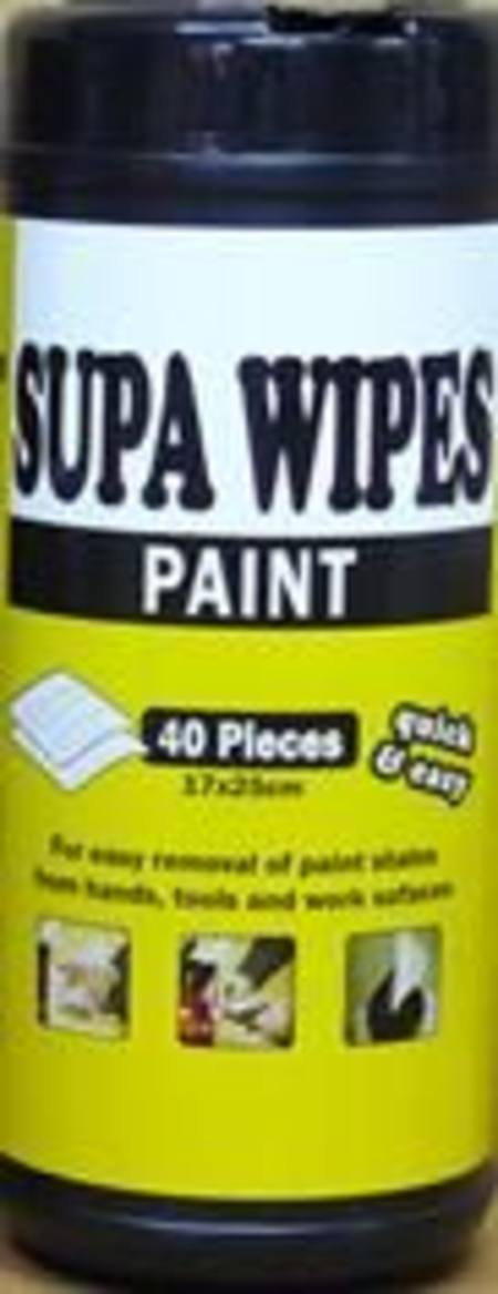 SUPA WIPES PAINT XL 40 PACK