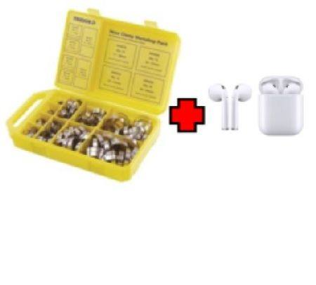 TRIDON FULL STAINLESS STEEL 150pc WORKSHOP PACK HOSE CLIPS WITH FREE TWS 5.0 BLUETOOTH WIRELESS EARBUDS