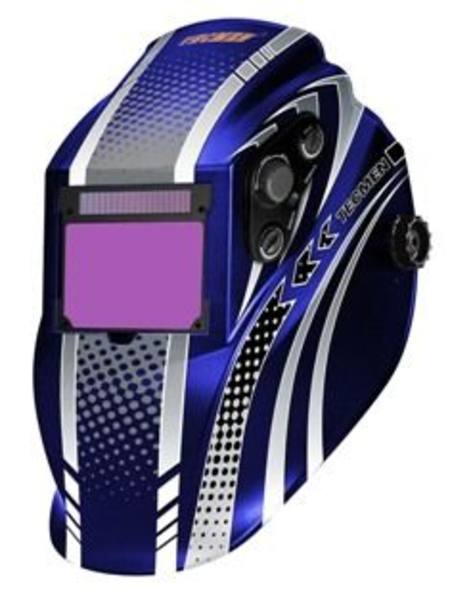WELDMASTER iEXPERT AUTO SOLAR POWERED BLUE WELDING HELMET