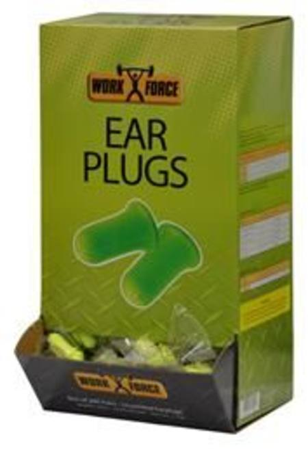 WORKFORCE BELL SHAPED UNCORDED EARPLUGS BOX OF 200 PAIRS