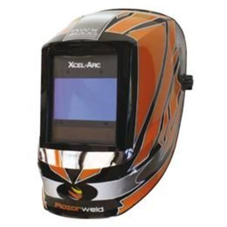 XCEL-ARC RAZORWELD RWX-5000 WIDE-VIEW WELDING HELMET WITH DIGITAL ADF TECHNOLOGY & GRAPHICS